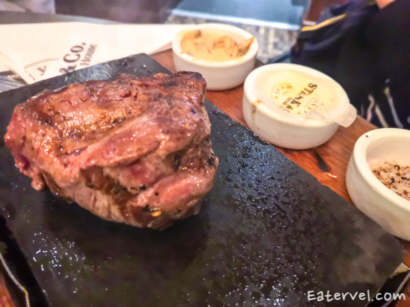 Steak & Co. Leicester Square Charing Cross Halal sizzling hot steak stone