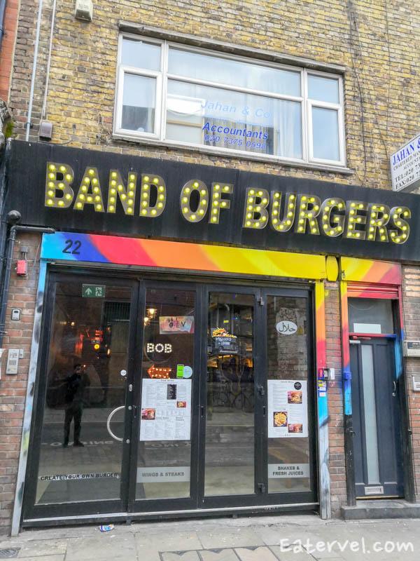 band of burgers brick lane halal - Front Store