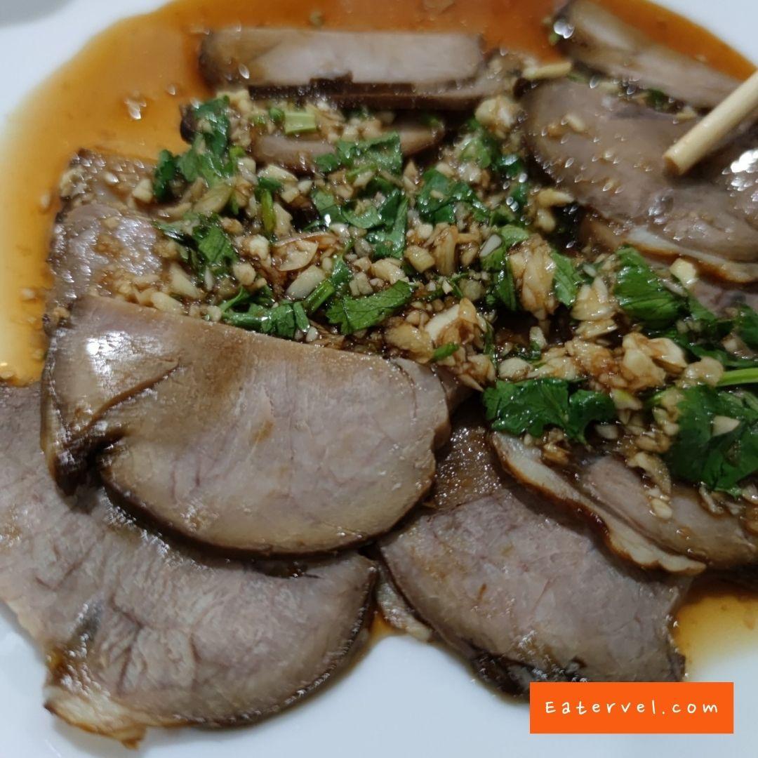 เนื้อเย็น เนื้อต้มพะโล้ Mr.หม่าล่า ร้านหม่าล่าต้มตำรับจีน หทัยราษฎร์