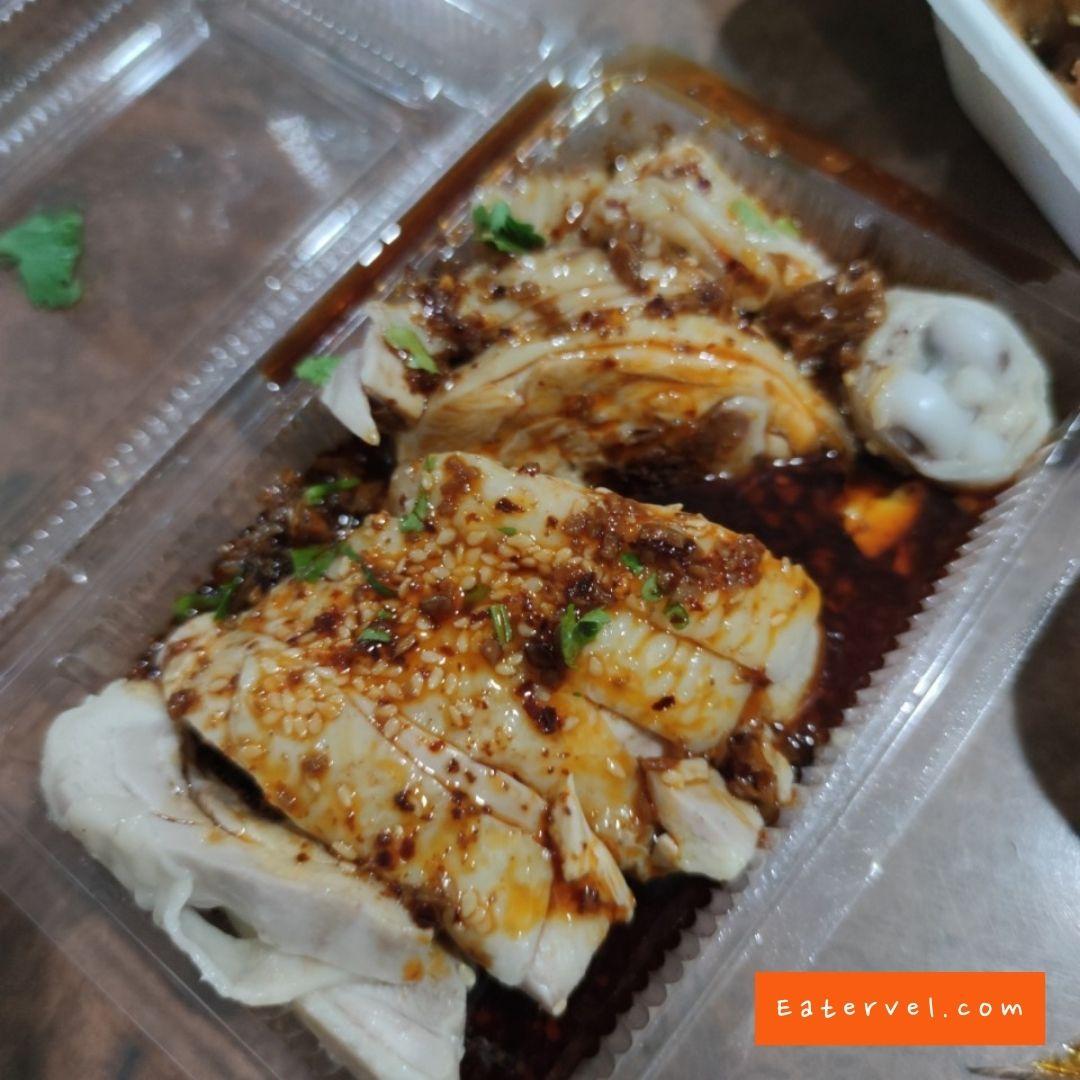ไก่เสฉวน เนื้อนุ่ม Mr.หม่าล่า ร้านหม่าล่าต้มตำรับจีน หทัยราษฎร์